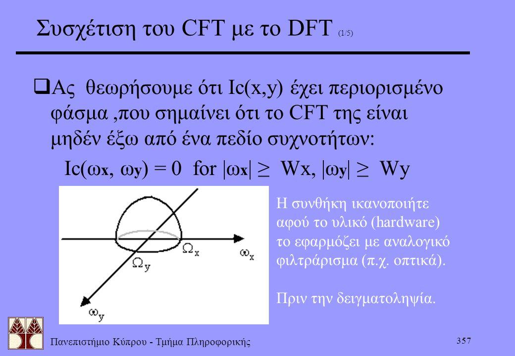 Συσχέτιση του CFT με το DFT (1/5)