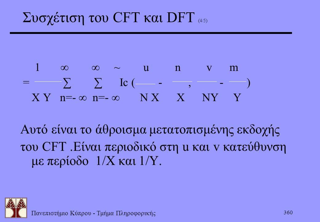 Συσχέτιση του CFT και DFT (4/5)