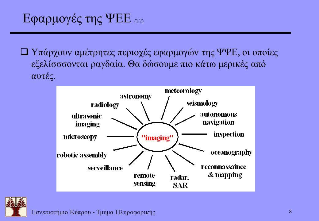 Εφαρμογές της ΨΕΕ (1/2) Υπάρχουν αμέτρητες περιοχές εφαρμογών της ΨΨΕ, οι οποίες εξελίσσσονται ραγδαία.