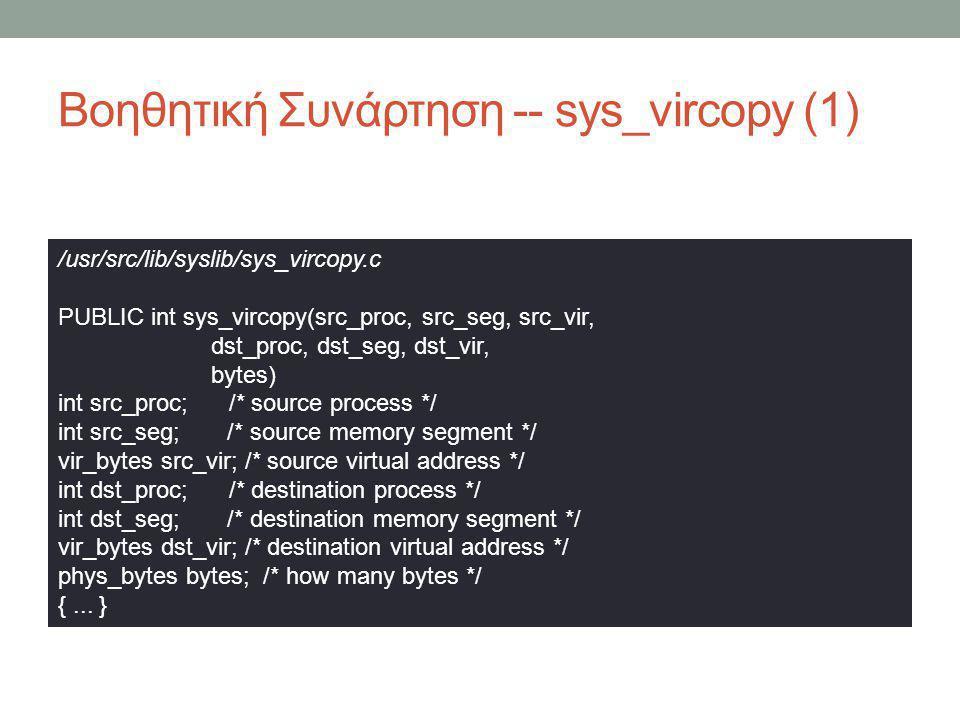 Βοηθητική Συνάρτηση -- sys_vircopy (1)