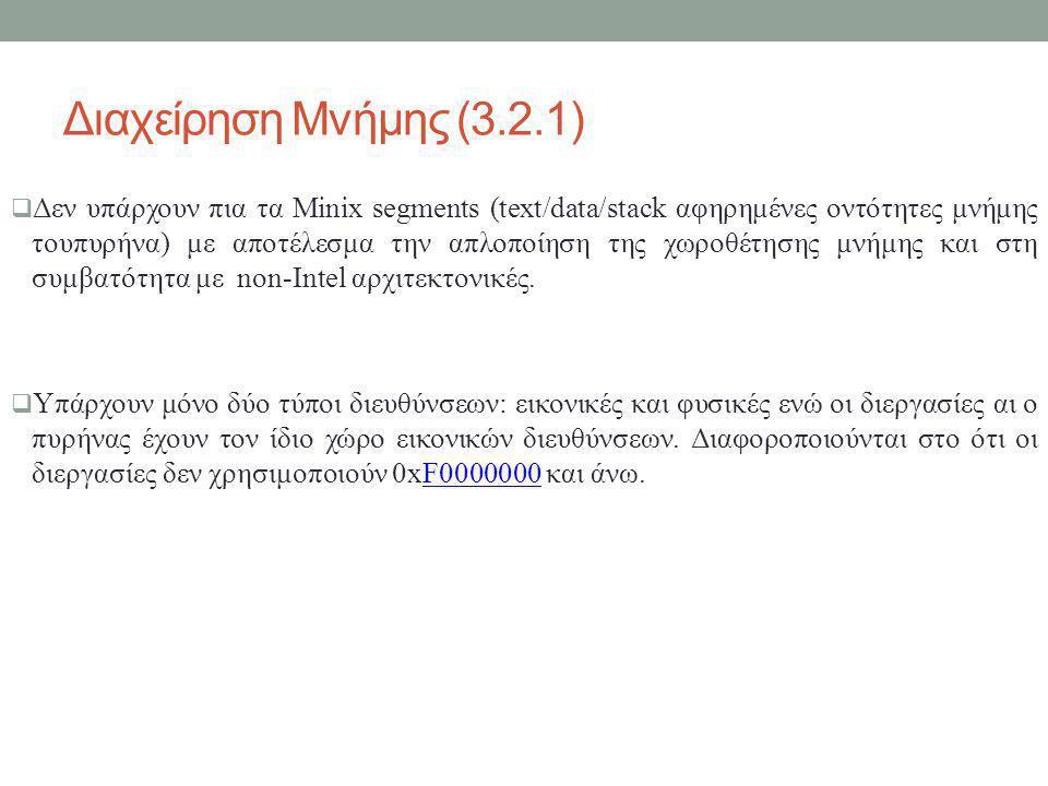 Διαχείρηση Μνήμης (3.2.1)