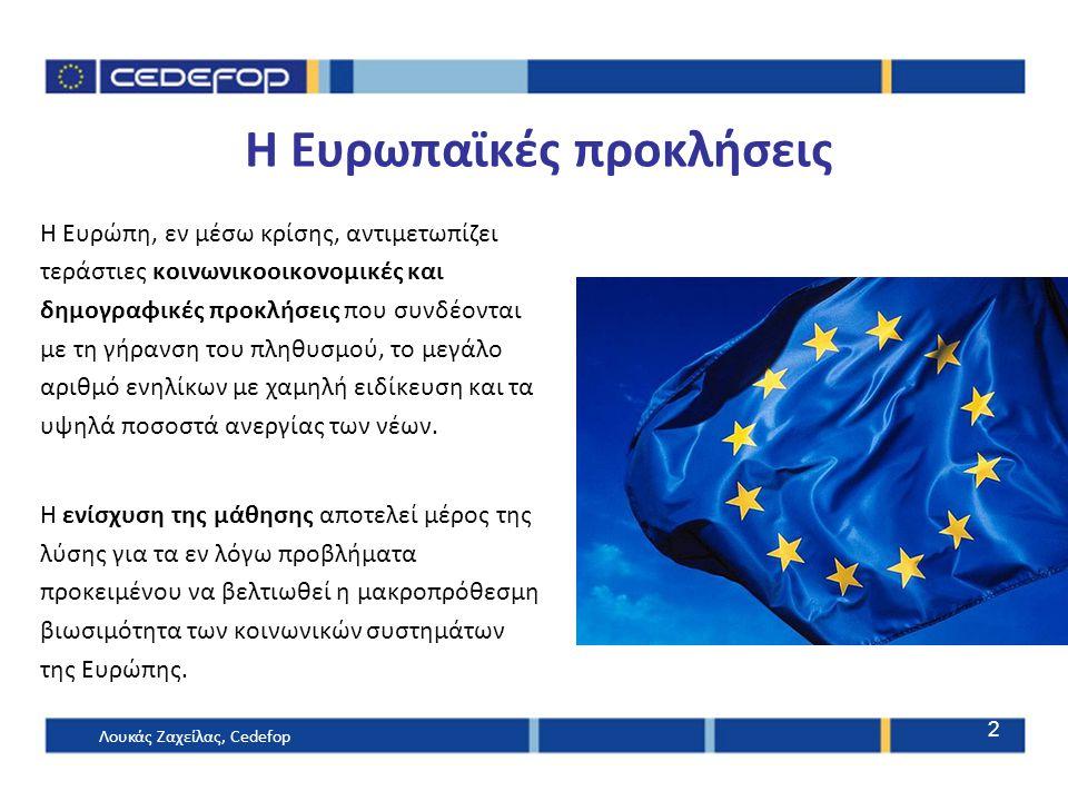 H Ευρωπαϊκές προκλήσεις