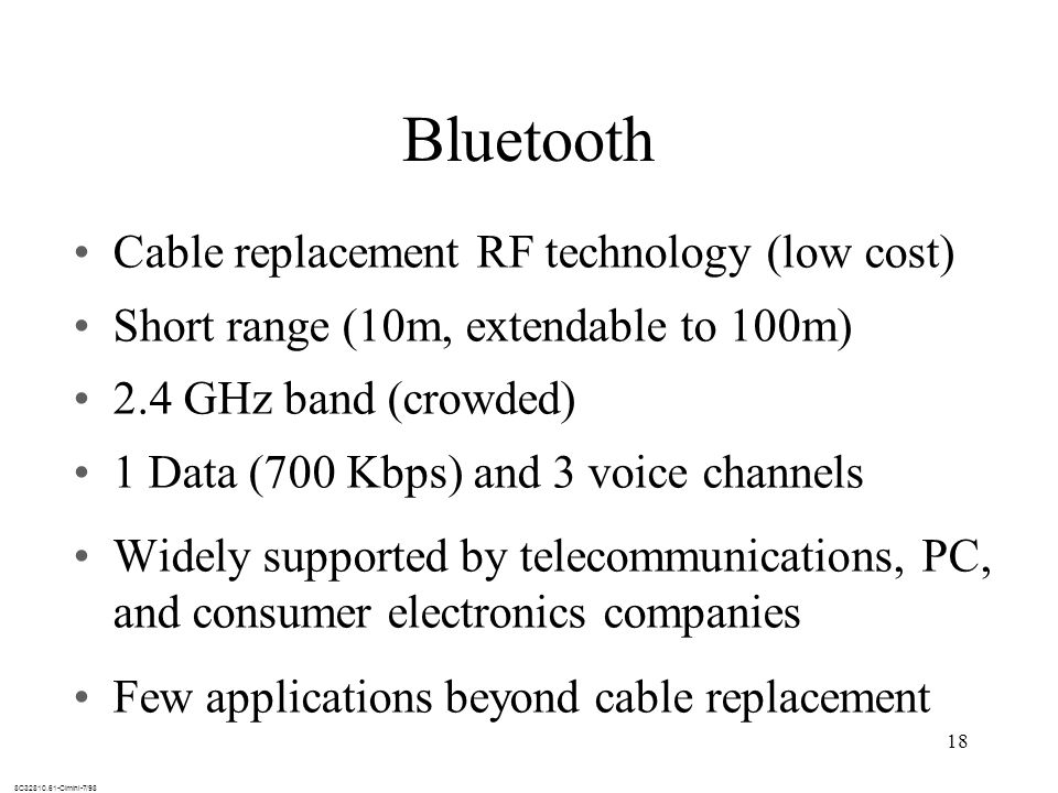 Bluetooth Cable replacement RF technology (low cost)