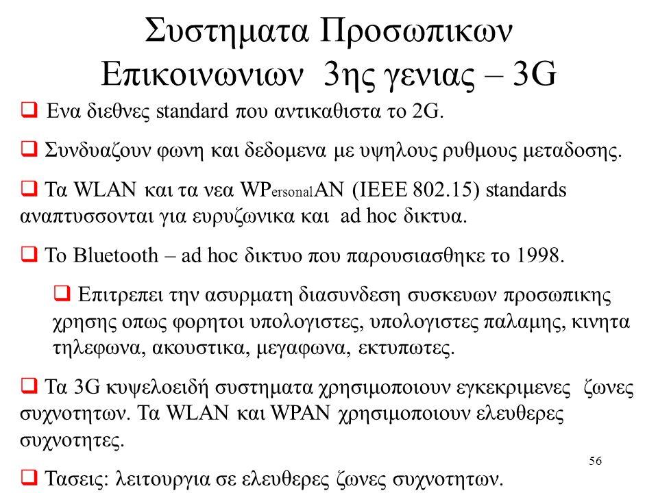 Συστηματα Προσωπικων Επικοινωνιων 3ης γενιας – 3G