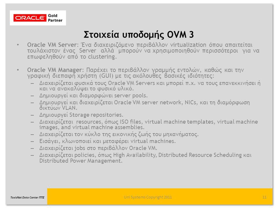 Στοιχεία υποδομής OVM 3