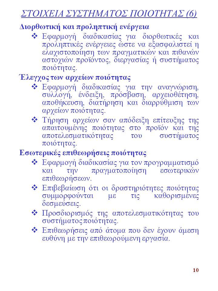 ΣΤΟΙΧΕΙΑ ΣΥΣΤΗΜΑΤΟΣ ΠΟΙΟΤΗΤΑΣ (6)