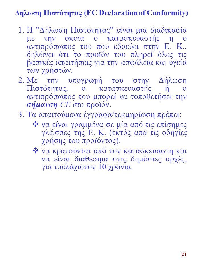 Δήλωση Πιστότητας (ΕC Declaration of Conformity)