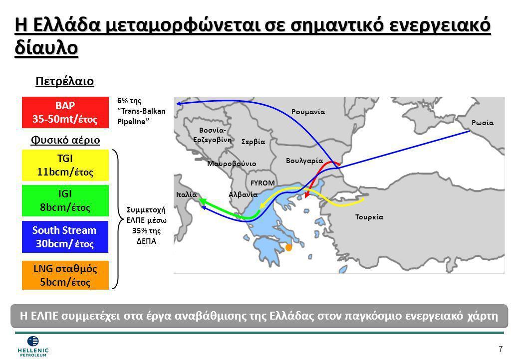Η Ελλάδα μεταμορφώνεται σε σημαντικό ενεργειακό δίαυλο