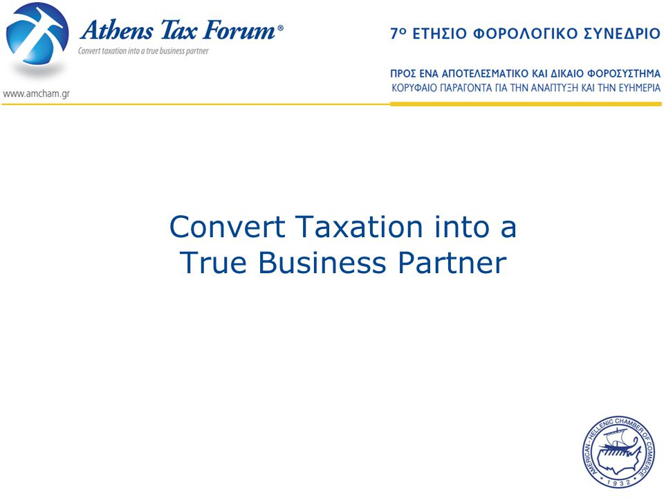 Convert Taxation into a True Business Partner