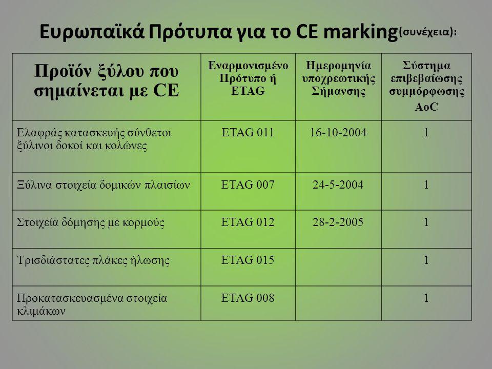 Ευρωπαϊκά Πρότυπα για το CE marking