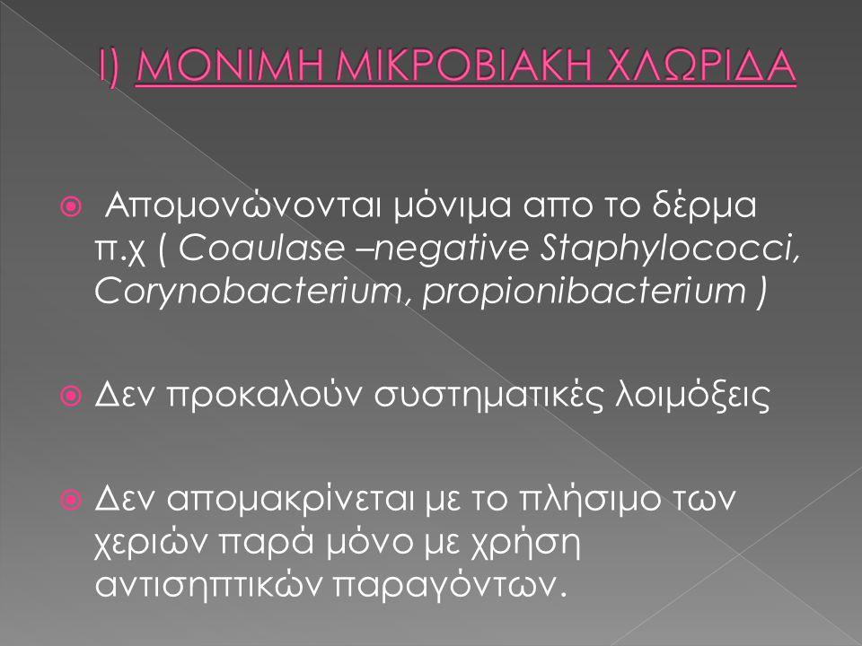 I) ΜΟΝΙΜΗ ΜΙΚΡΟΒΙΑΚΗ ΧΛΩΡΙΔΑ