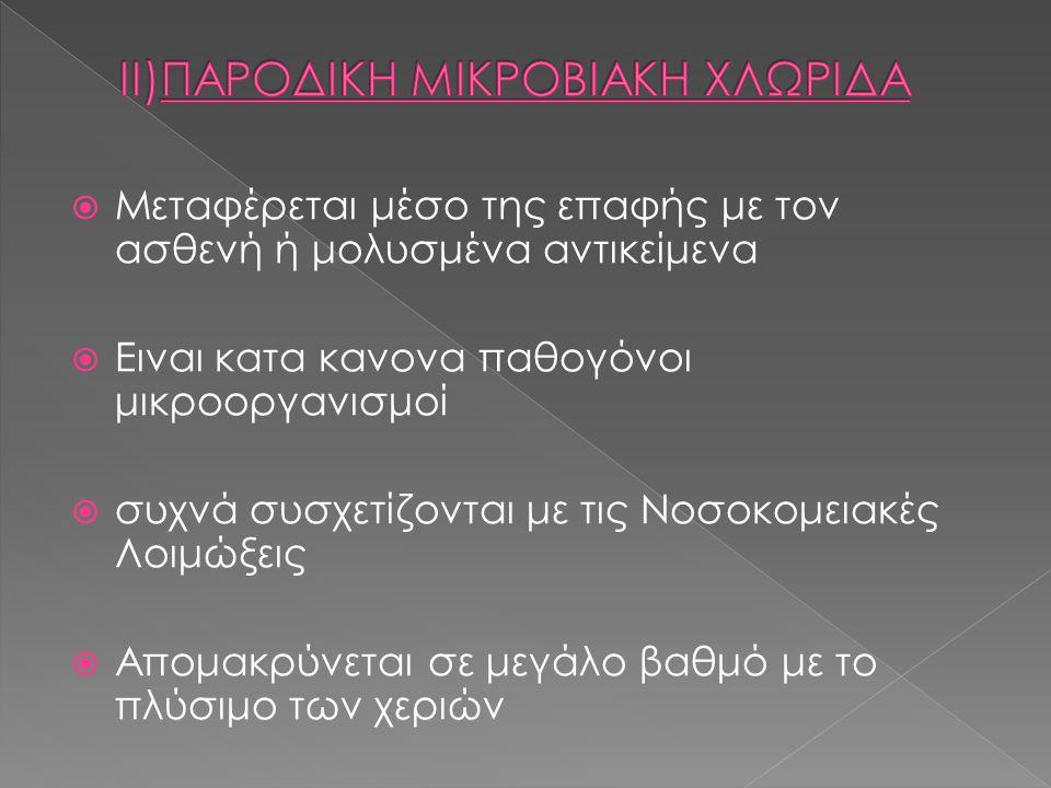 ΙΙ)ΠΑΡΟΔΙΚΗ ΜΙΚΡΟΒΙΑΚΗ ΧΛΩΡΙΔΑ