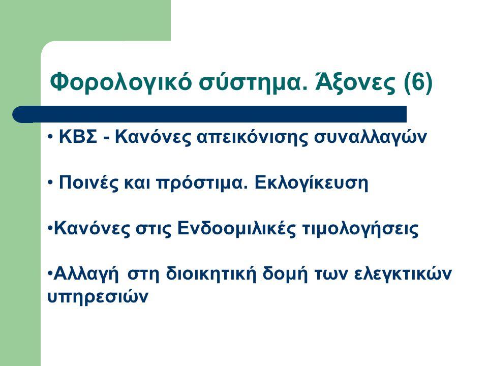 Φορολογικό σύστημα. Άξονες (6)