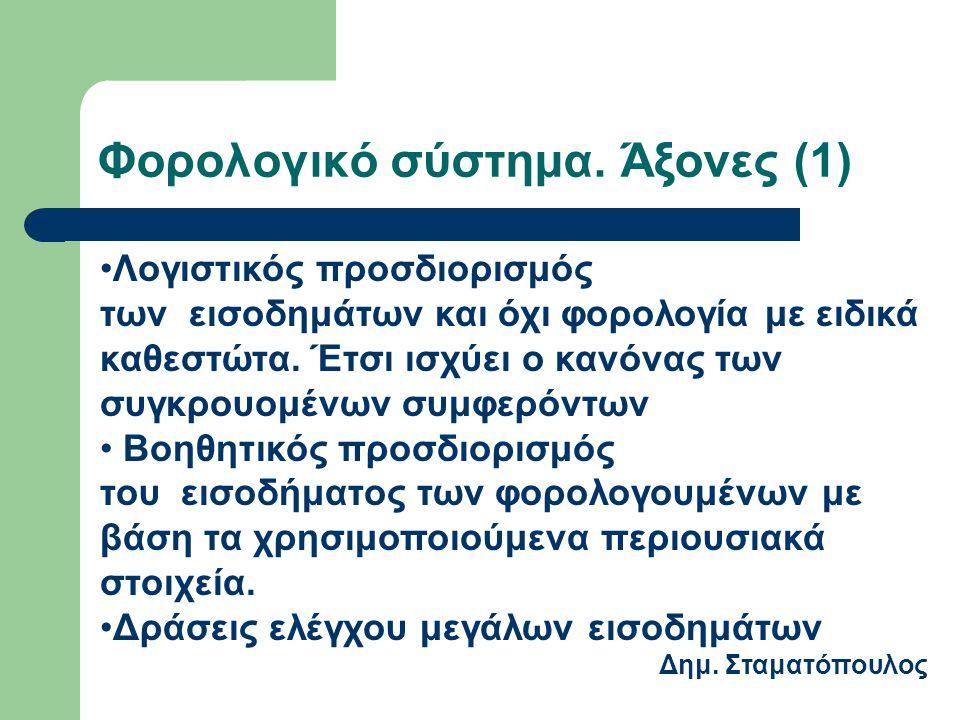Φορολογικό σύστημα. Άξονες (1)