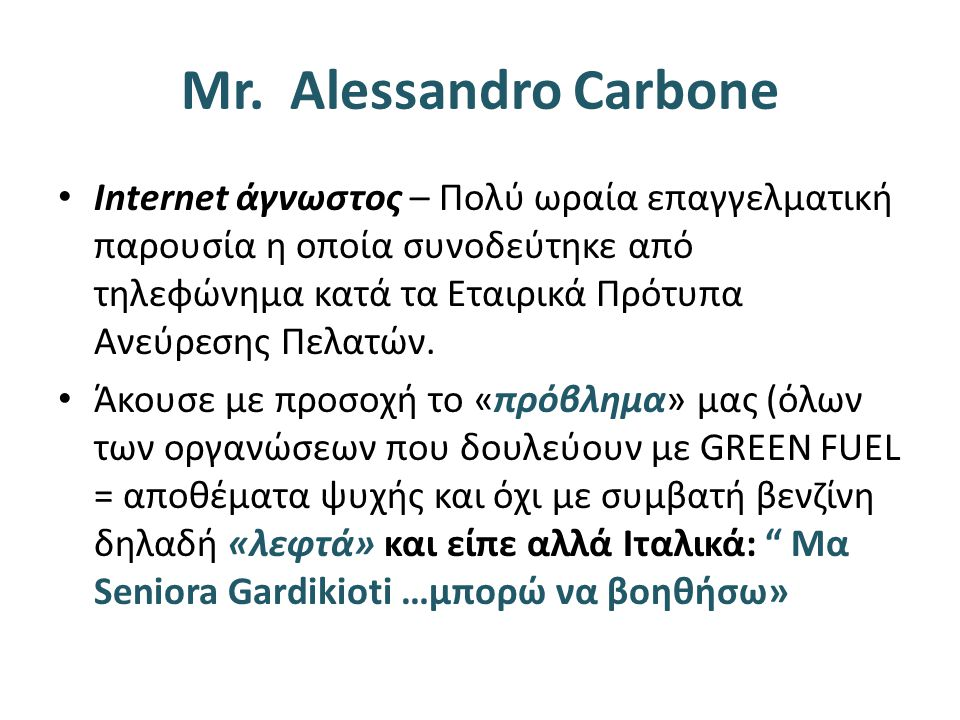 Mr. Alessandro Carbone
