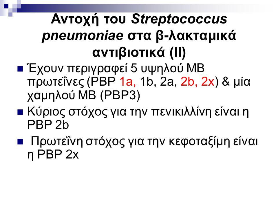 Αντοχή του Streptococcus pneumoniae στα β-λακταμικά αντιβιοτικά (ΙΙ)