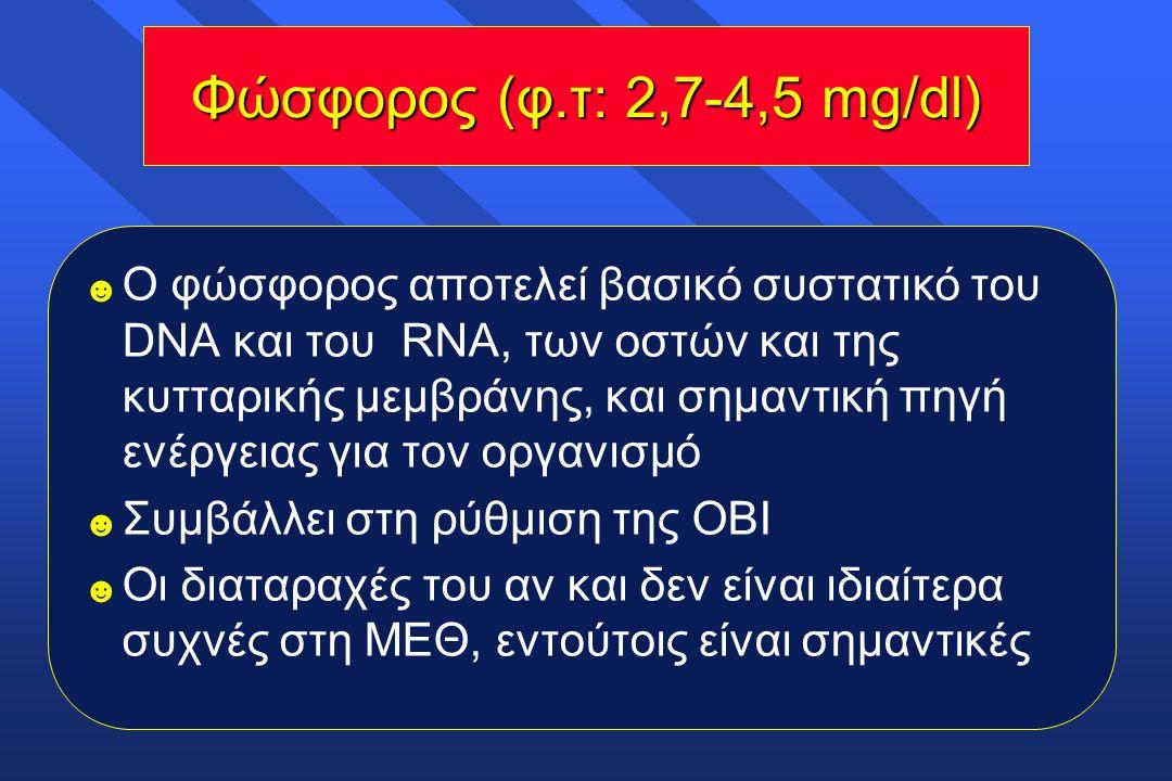 Φώσφορος (φ.τ: 2,7-4,5 mg/dl)