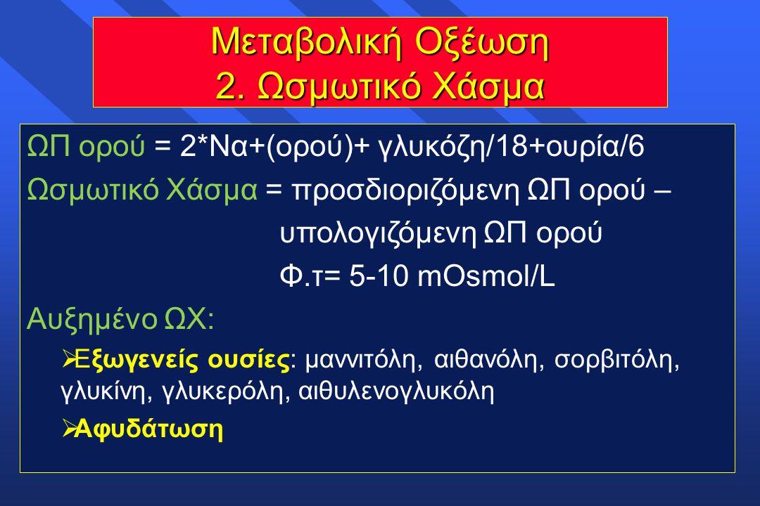 Μεταβολική Οξέωση 2. Ωσμωτικό Χάσμα