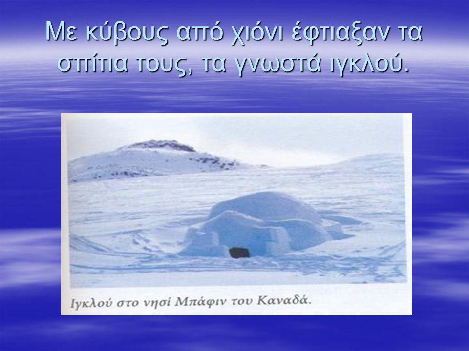 Με κύβους από χιόνι έφτιαξαν τα σπίτια τους, τα γνωστά ιγκλού.