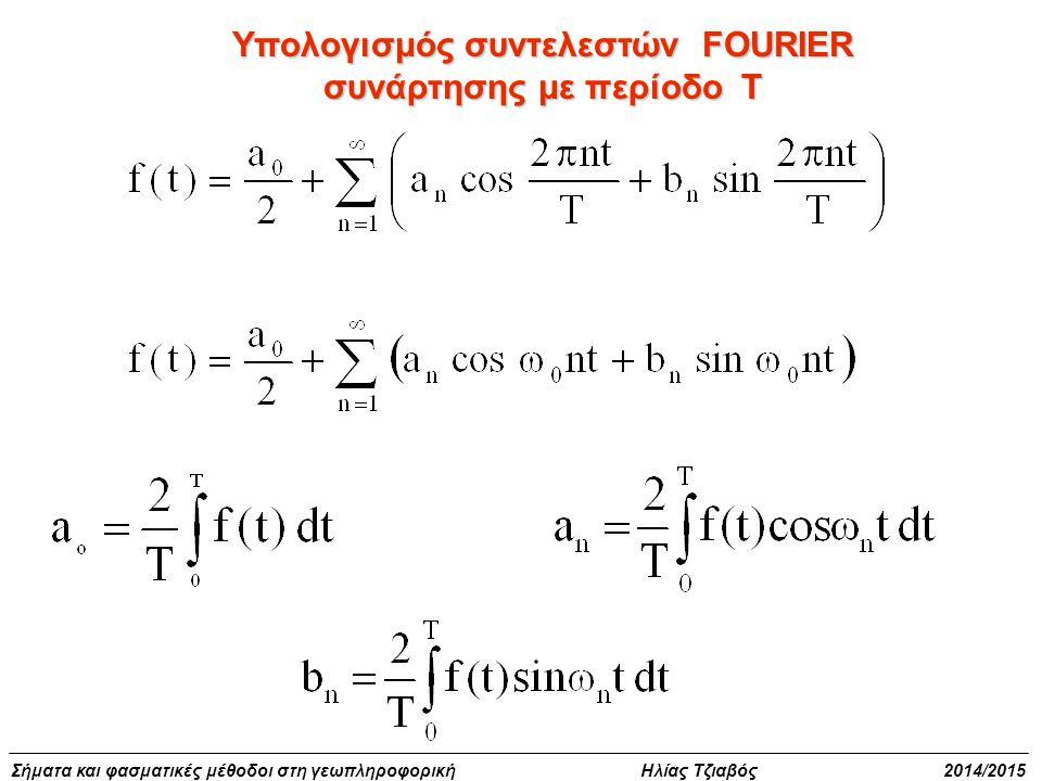 Υπολογισμός συντελεστών FOURIER συνάρτησης με περίοδο Τ