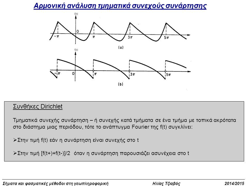 Αρμονική ανάλυση τμηματικά συνεχούς συνάρτησης