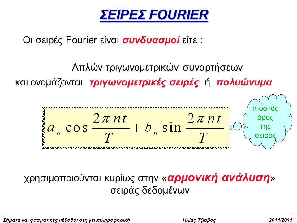 ΣΕΙΡΕΣ FOURIER Οι σειρές Fourier είναι συνδυασμοί είτε :