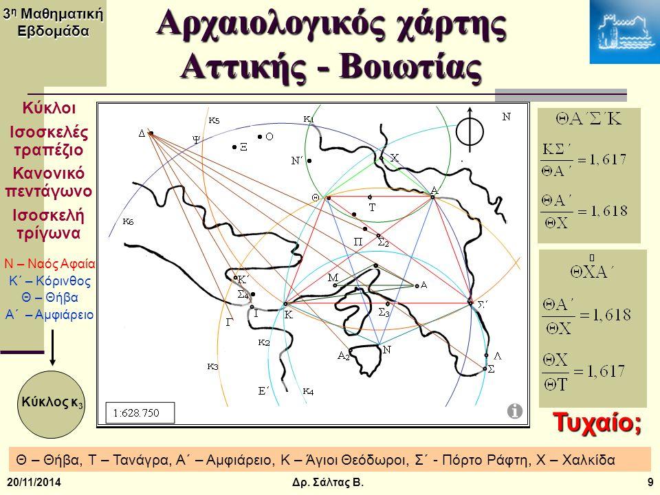 Αρχαιολογικός χάρτης Αττικής - Βοιωτίας