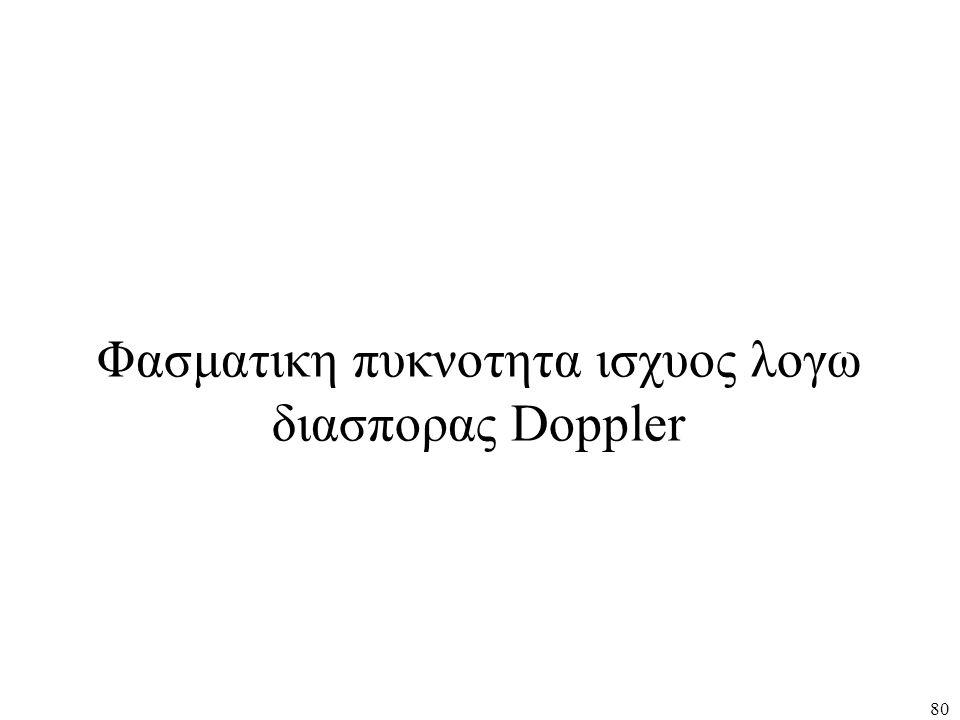 Φασματικη πυκνοτητα ισχυος λογω διασπορας Doppler