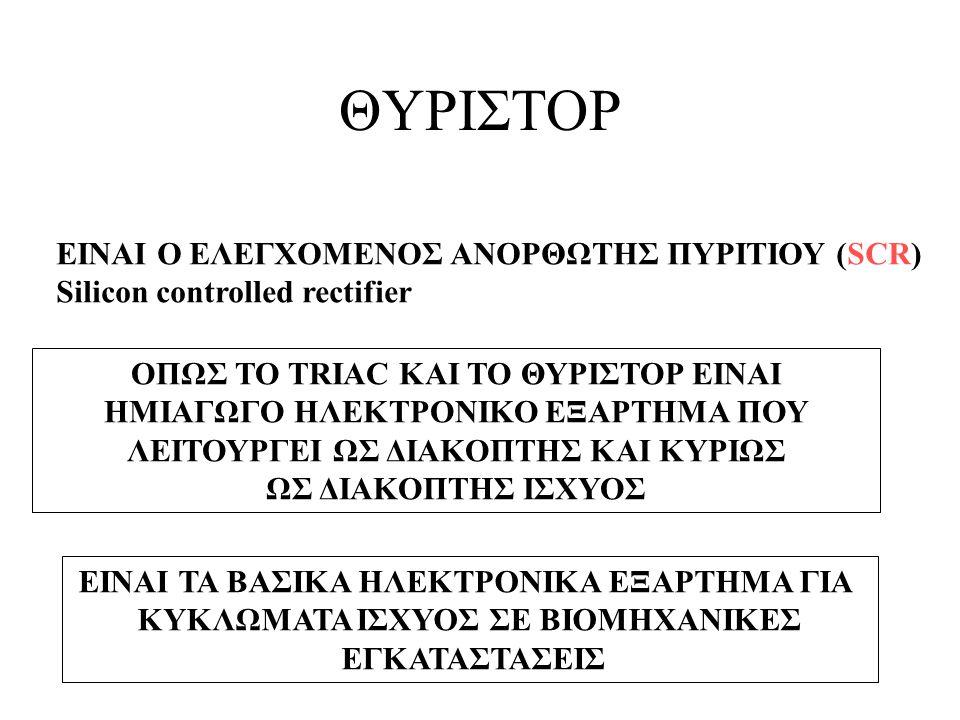 ΘΥΡΙΣΤΟΡ ΕΙΝΑΙ Ο ΕΛΕΓΧΟΜΕΝΟΣ ΑΝΟΡΘΩΤΗΣ ΠΥΡΙΤΙΟΥ (SCR)