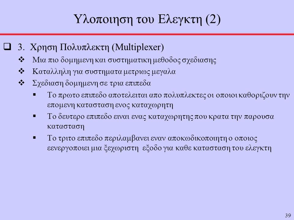 Υλοποιηση του Ελεγκτη (2)