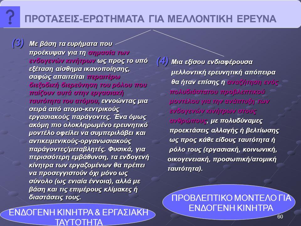 ΠΡΟΤΑΣΕΙΣ-ΕΡΩΤΗΜΑΤΑ ΓΙΑ ΜΕΛΛΟΝΤΙΚΗ ΕΡΕΥΝΑ