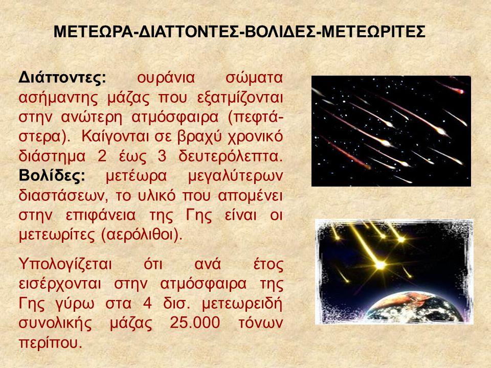 ΜΕΤΕΩΡΑ-ΔΙΑΤΤΟΝΤΕΣ-ΒΟΛΙΔΕΣ-ΜΕΤΕΩΡΙΤΕΣ