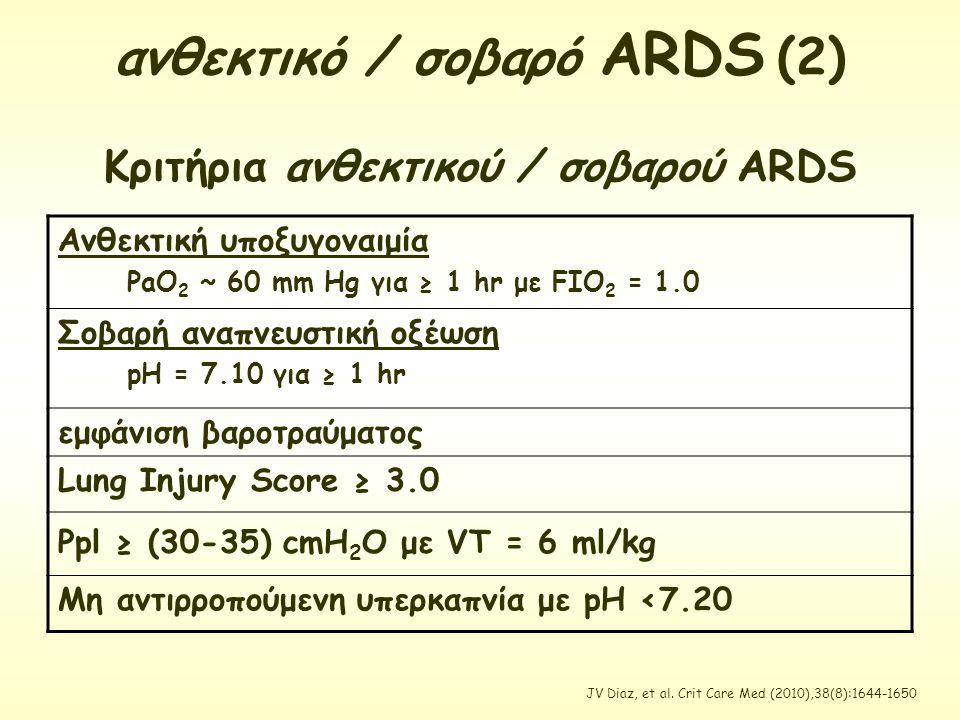 ανθεκτικό / σοβαρό ARDS (2)