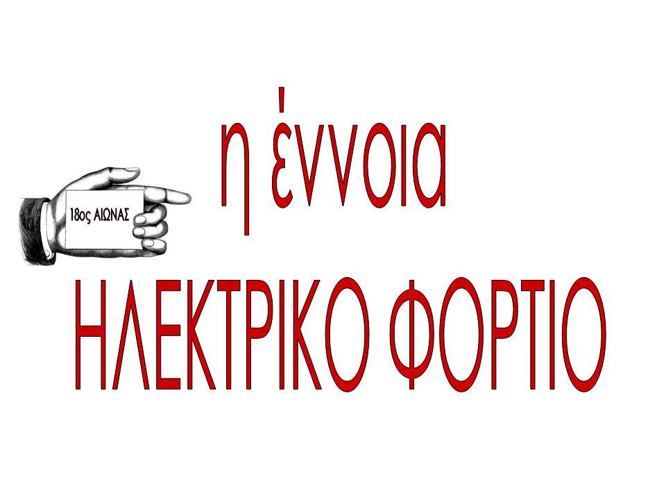 η έννοια ΗΛΕΚΤΡΙΚΟ ΦΟΡΤΙΟ 18ος ΑΙΩΝΑΣ