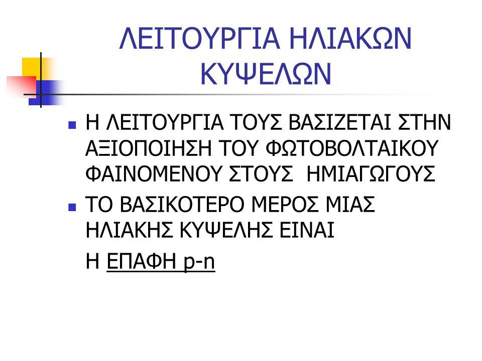 ΛΕΙΤΟΥΡΓΙΑ ΗΛΙΑΚΩΝ ΚΥΨΕΛΩΝ