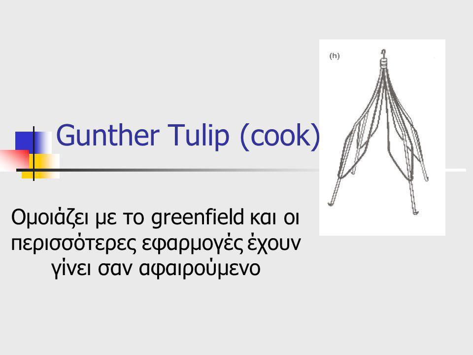 Gunther Tulip (cook) Ομοιάζει με το greenfield και οι περισσότερες εφαρμογές έχουν γίνει σαν αφαιρούμενο.