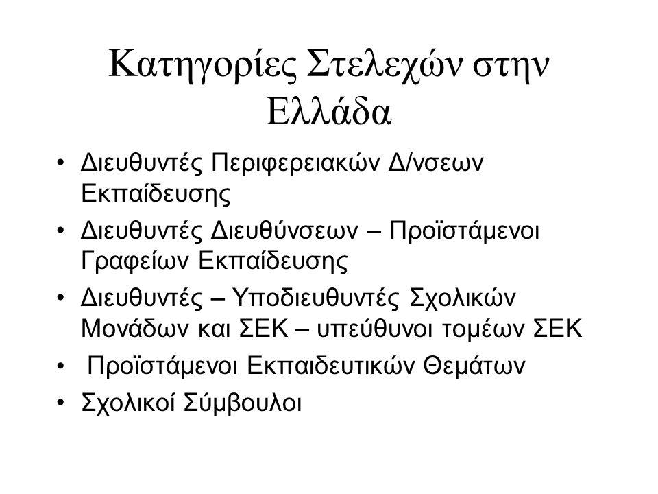 Κατηγορίες Στελεχών στην Ελλάδα