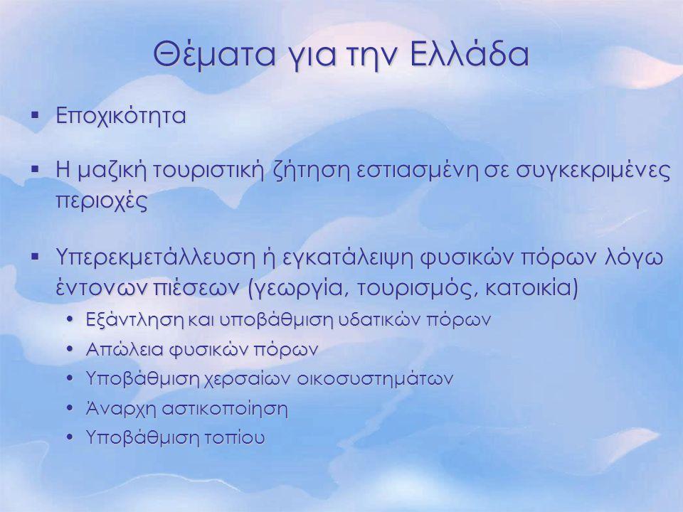 Θέματα για την Ελλάδα Εποχικότητα