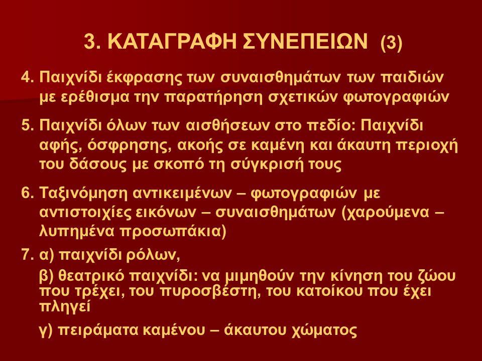 3. ΚΑΤΑΓΡΑΦΗ ΣΥΝΕΠΕΙΩΝ (3)