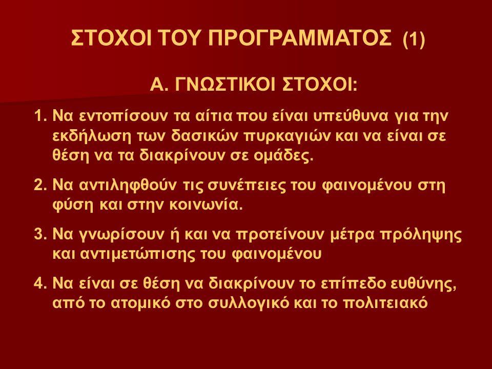 ΣΤΟΧΟΙ ΤΟΥ ΠΡΟΓΡΑΜΜΑΤΟΣ (1)
