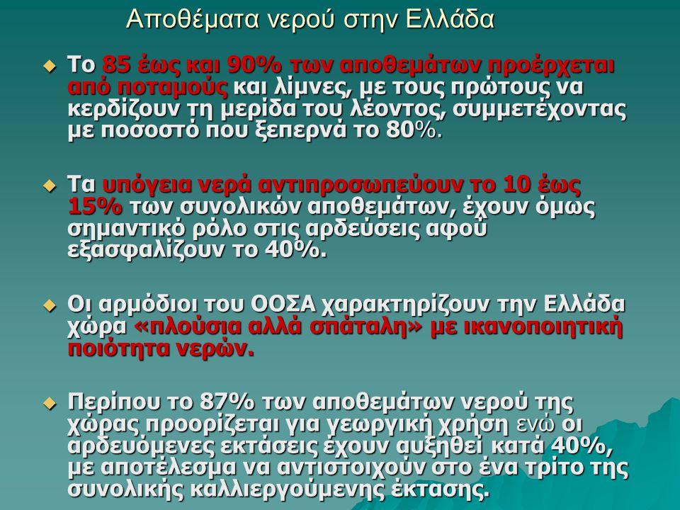 Αποθέματα νερού στην Ελλάδα