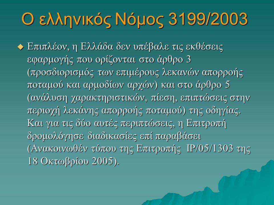Ο ελληνικός Νόμος 3199/2003