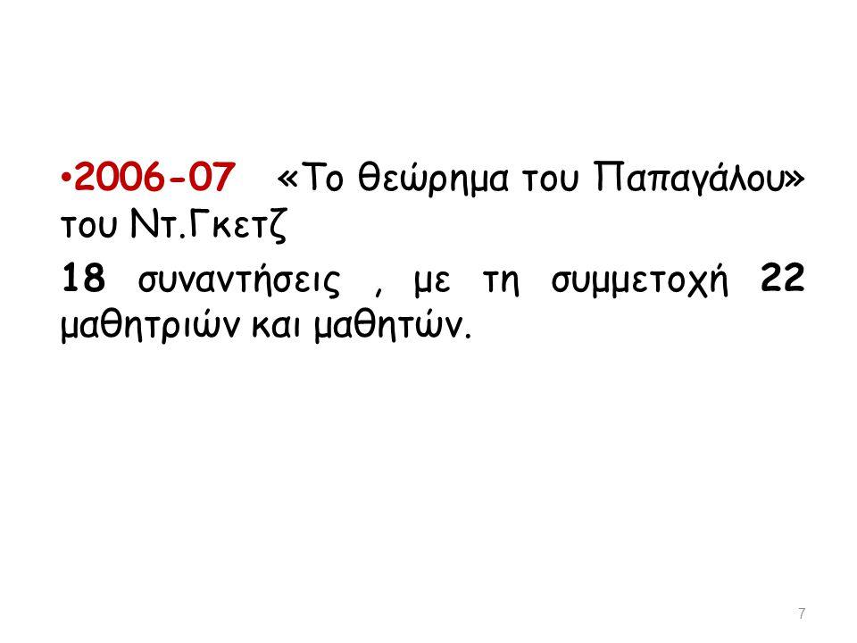 2006-07 «Το θεώρημα του Παπαγάλου» του Ντ.Γκετζ