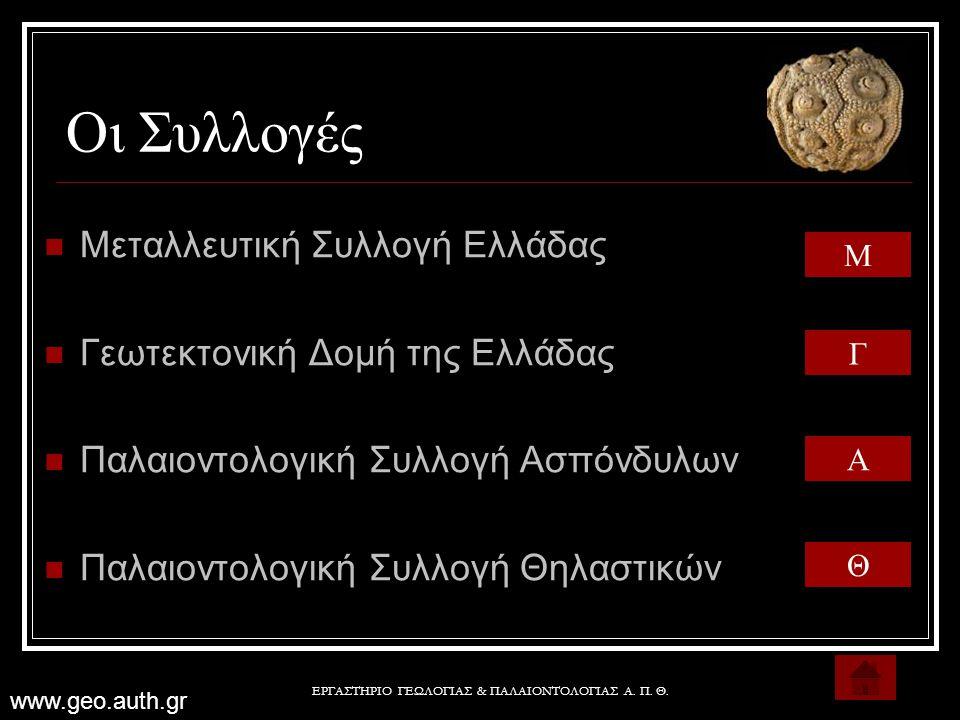 ΕΡΓΑΣΤΗΡΙΟ ΓΕΩΛΟΓΙΑΣ & ΠΑΛΑΙΟΝΤΟΛΟΓΙΑΣ Α. Π. Θ.