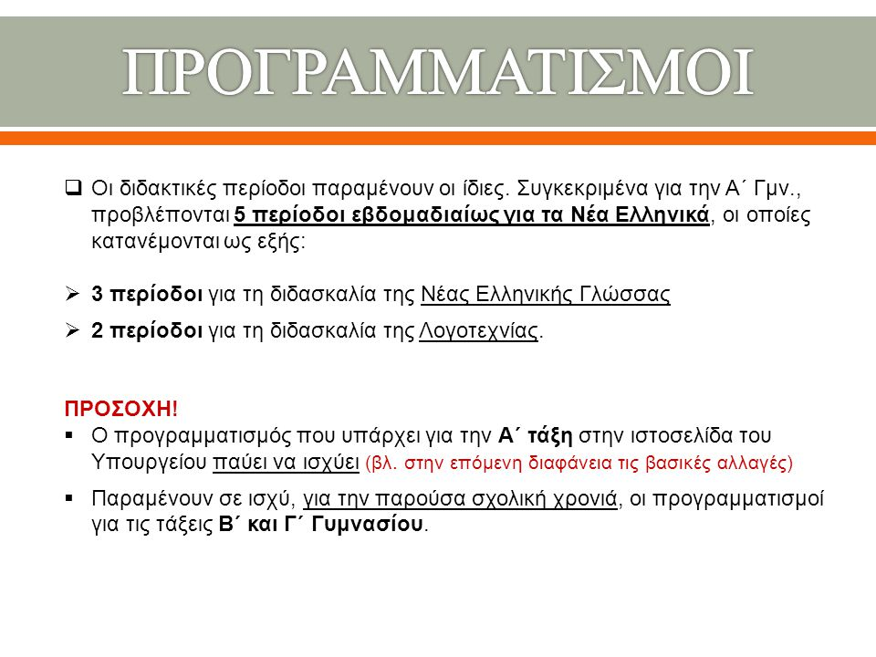 ΠΡΟΓΡΑΜΜΑΤΙΣΜΟΙ