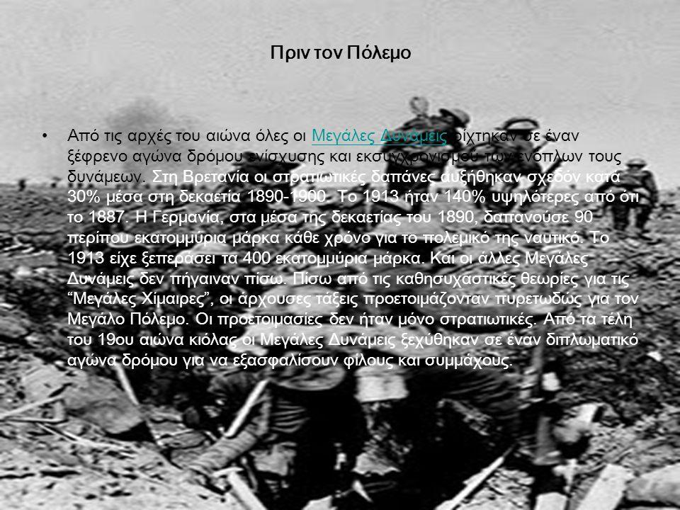 Πριν τον Πόλεμο