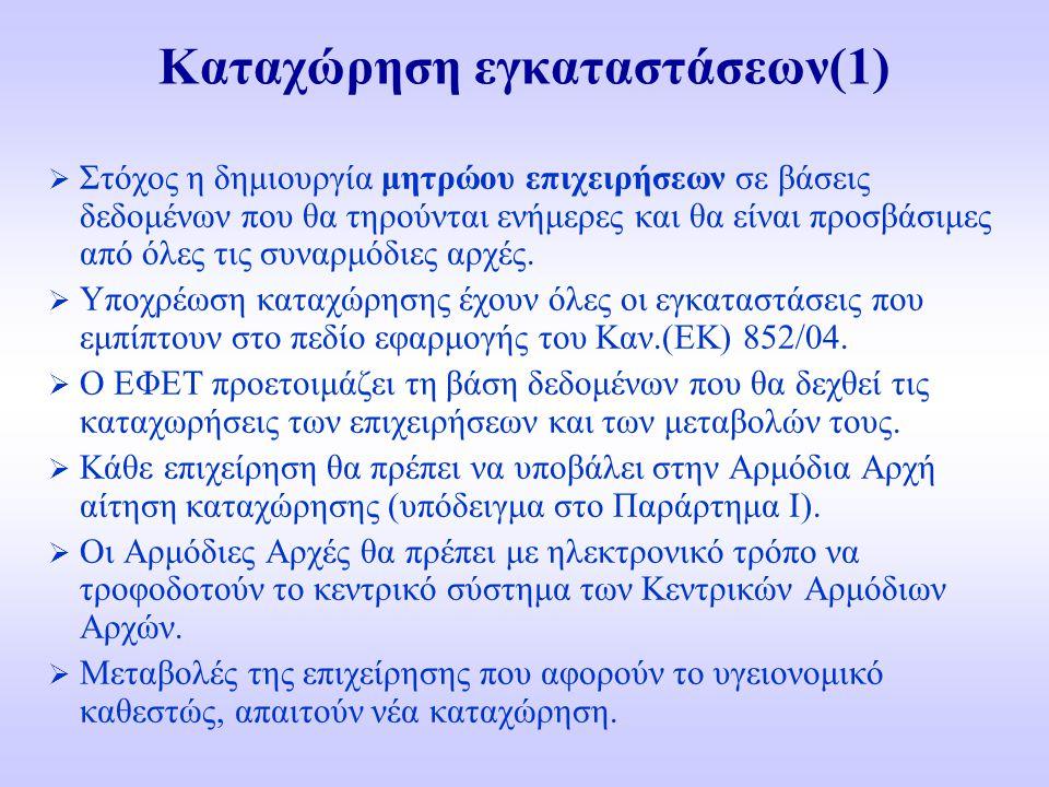 Καταχώρηση εγκαταστάσεων(1)