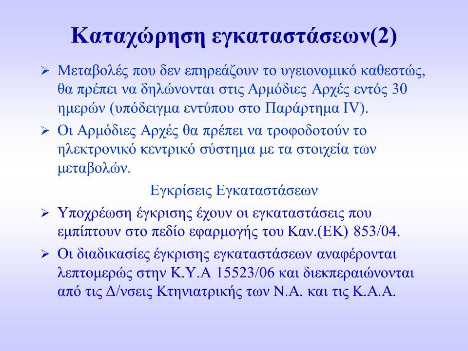 Καταχώρηση εγκαταστάσεων(2)