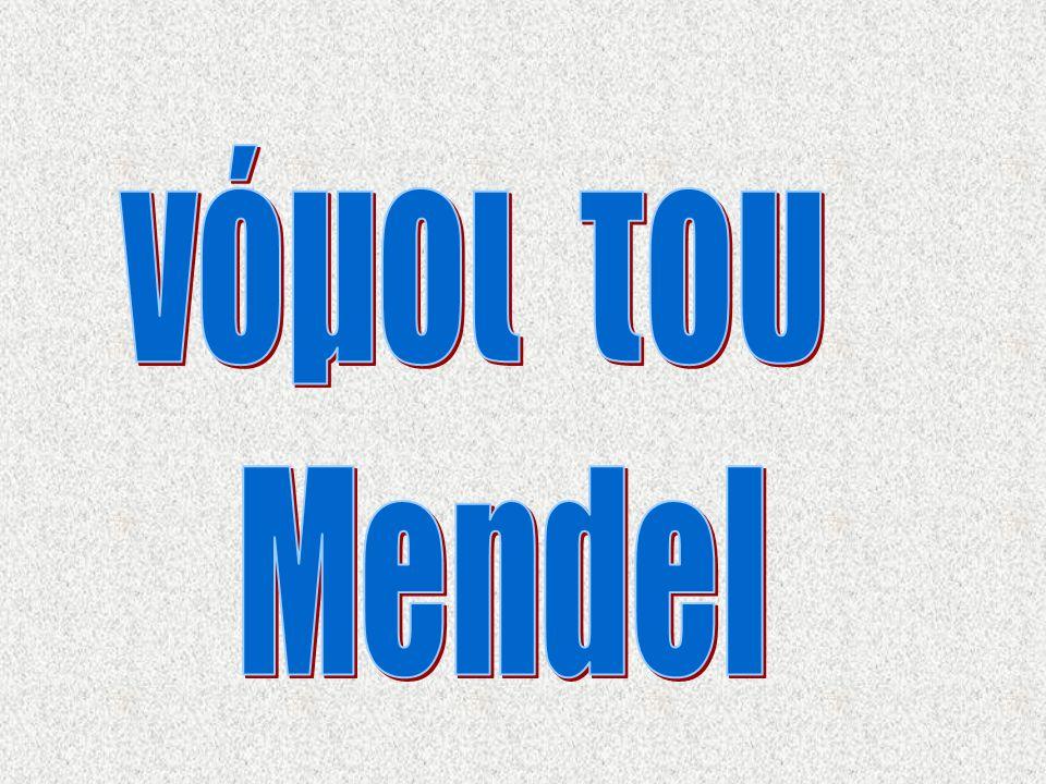 νόμοι του Mendel