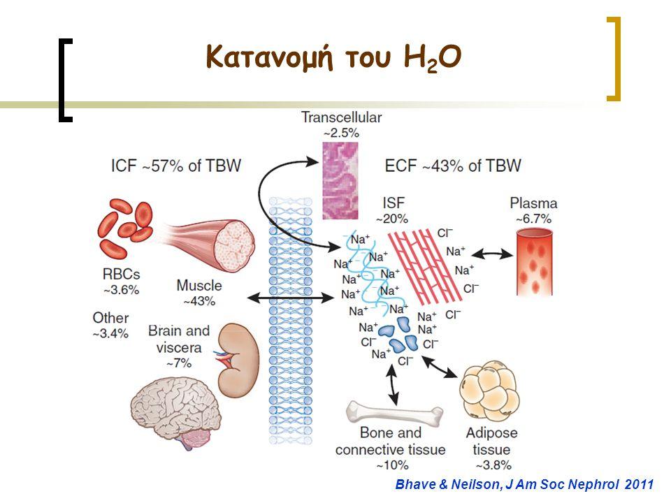Κατανομή του H2O Bhave & Neilson, J Am Soc Nephrol 2011